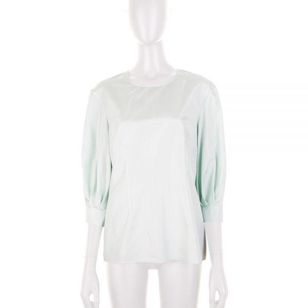 Pastel Green Silk Shirt by Deitas - Le Dressing Monaco