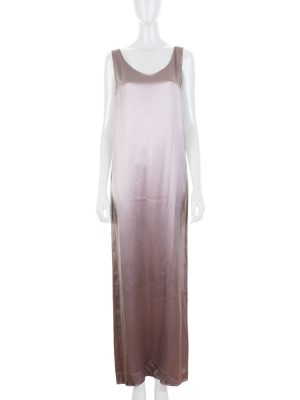 Lilac Satin Sleeveless Dress by Deitas - Le Dressing Monaco