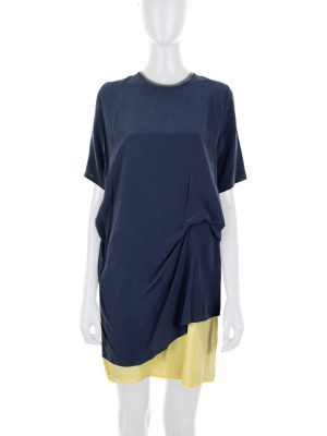 Two Colored Silk Dress Open Back by Acne Studio - Le Dressing Monaco