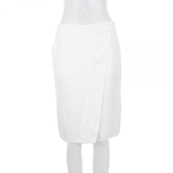 Wrap Around White Silk Skirt by Deitas - Le Dressing Monaco