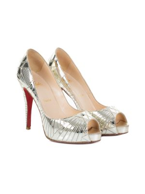 Mirror Peep Toe High Heel Pumps by Christian Louboutin - Le Dressing Monaco