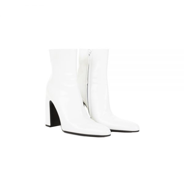 White High Heel Ankle Boots by Balenciaga - Le Dressing Monaco