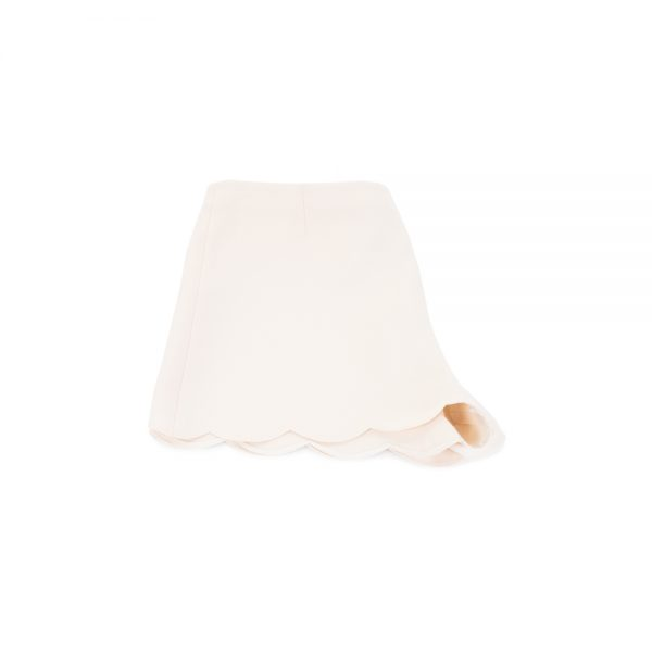 Creme Silk And Wool Shorts by Valentino - Le Dressing Monaco