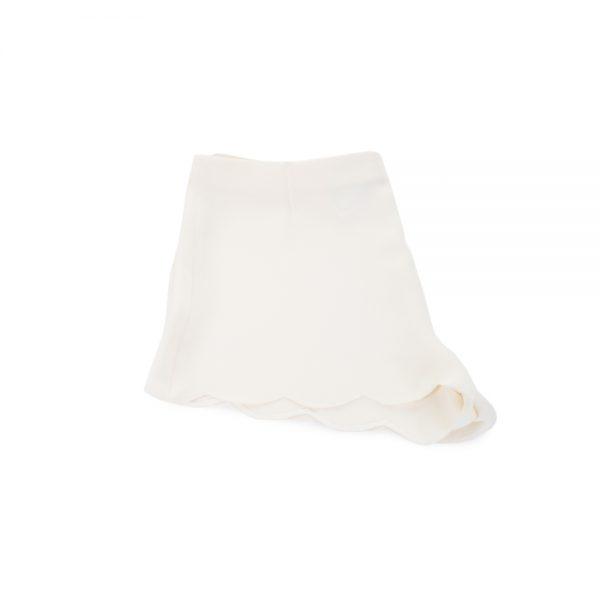 Creme Silk Shorts by Valentino - Le Dressing Monaco