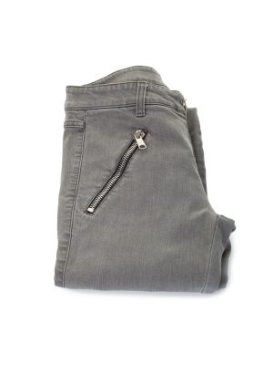 Zipped Low Waist Grey Jeans by Alexander McQueen - Le Dressing Monaco