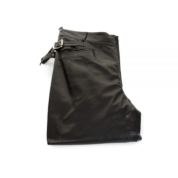 Extreme Zip High Waist Leather Pants by Gianni Versace - Le Dressing Monaco