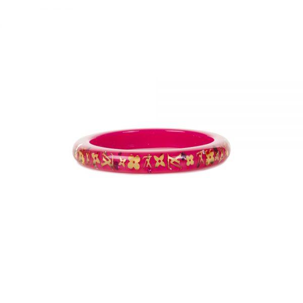 Pink and Gold Plastic Bracelet by Louis Vuitton - Le Dressing Monaco