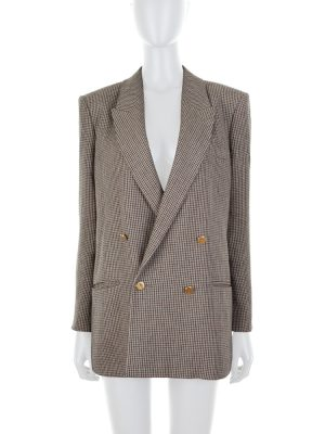 Double-Breasted Spiritismo Linen Jacket by Gucci - Le Dressing Monaco