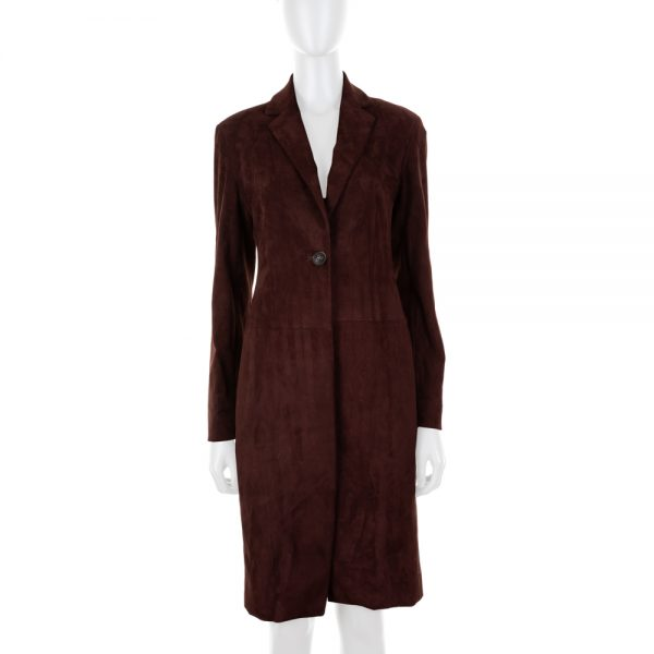 Brown Long Suede Jacket by The Row - Le Dressing Monaco