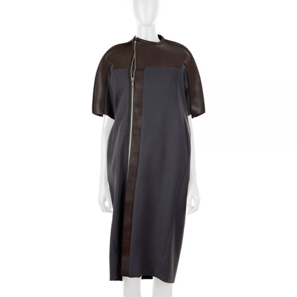 Leather And Virgin Wool Coat by Rick Owens - Le Dressing Monaco