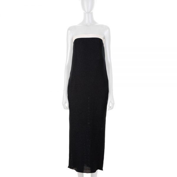 Navy Net Long Bustier Dress by Chanel - Le Dressing Monaco