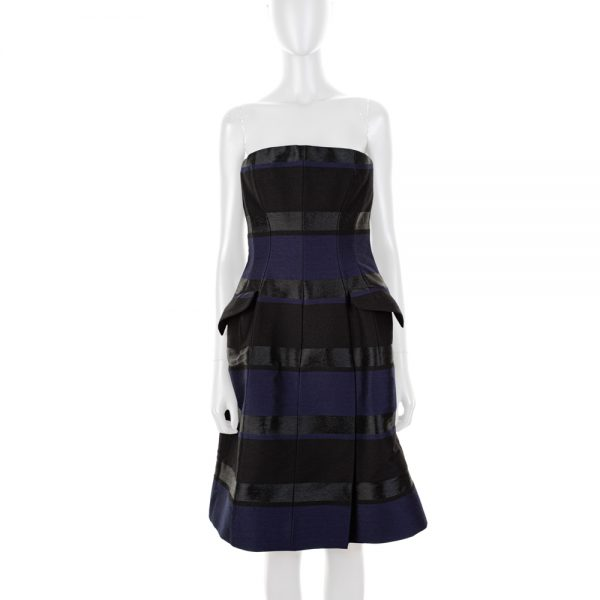 Striped Bustier Cocktail Dress by Christian Dior - Le Dressing Monaco
