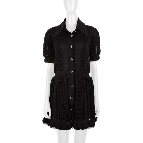 Black Knitted Transparent Cardigan Dress by Chanel - Le Dressing Monaco