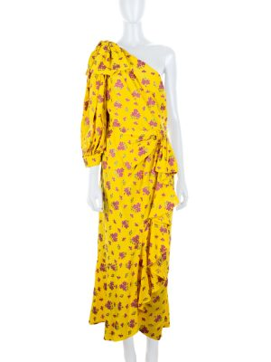 Yellow Floral One Shoulder Dress by Gucci - Le Dressing Monaco