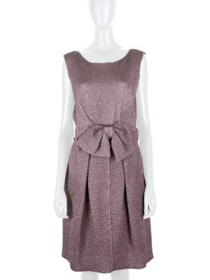 Lilac Brocart Mini Dress With Bow by Nina Ricci - Le Dressing Monaco