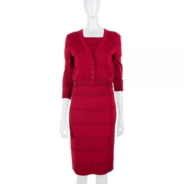 Knitted Tight Dress and Cardigan by Christian Dior - Le Dressing Monaco
