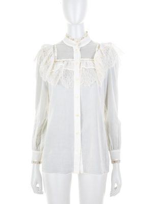 Off-White Lace Shirt by Saint Laurent - Le Dressing Monaco