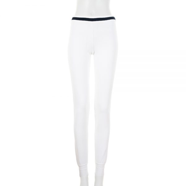 White Knitted Sport Leggings by Chanel - Le Dressing Monaco