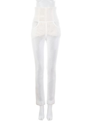 High Waist White Net Pants by Chanel - Le Dressing Monaco