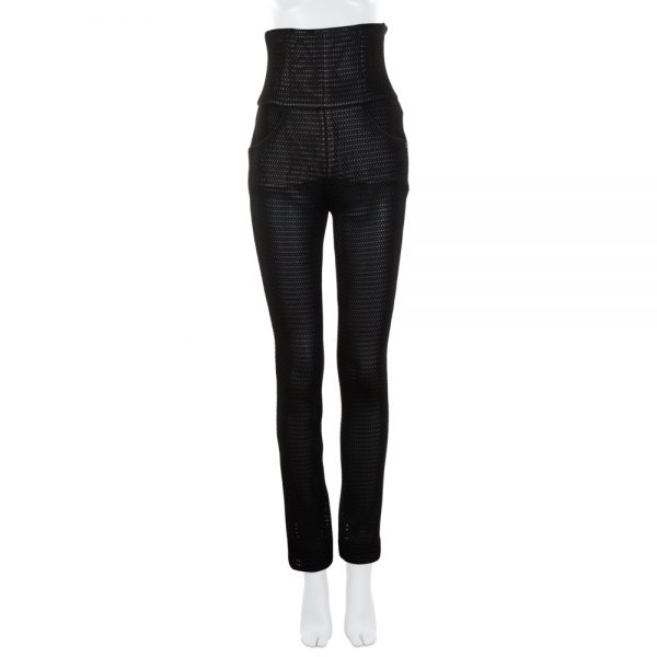 High Waist Black Net Pants by Chanel - Le Dressing Monaco