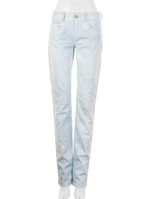 Embroidered Straight Cut Jeans by Chanel - Le Dressing Monaco
