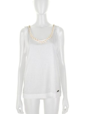 Pearls Sleeveless Cotton Top by Louis Vuitton - Le Dressing Monaco
