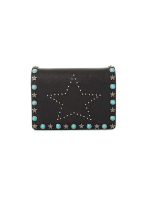 Black Star Studded Wallet On Chain by Valentino Garavani - Le Dressing Monaco