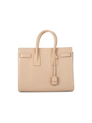 Beige Grained Leather Sac de Jour by Saint Laurent - Le Dressing Monaco
