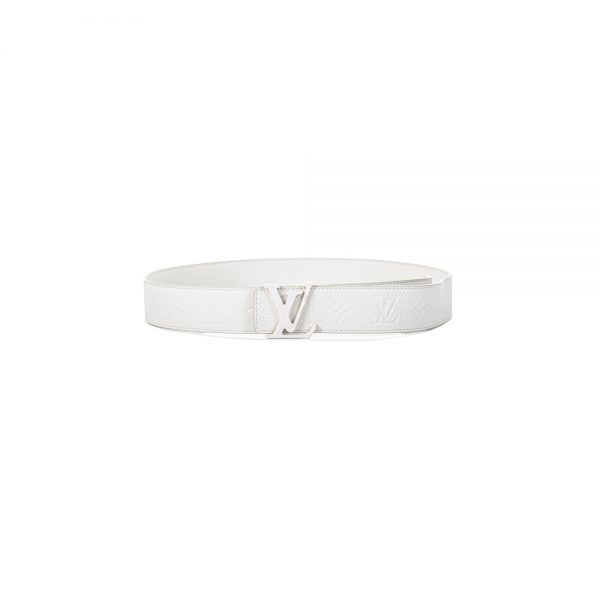Man's LV Shape 40mm White Monogram Belt by Louis Vuitton - Le Dressing Monaco