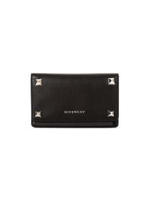 Black Studded Clutch with Chain by Givenchy - Le Dressing Monaco