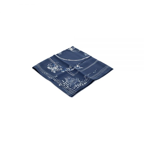 Swimming Fish And Pearls Silk Scarf by Chanel - Le Dressing Monaco
