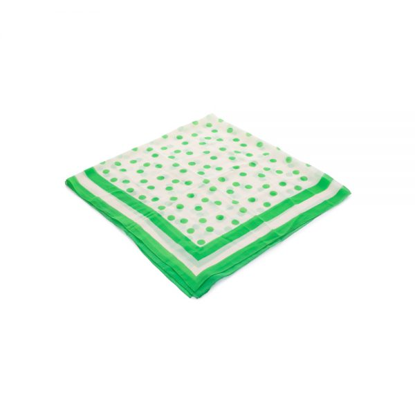 Transparent Silk Scarf Green Dots by Christian Dior - Le Dressing Monaco