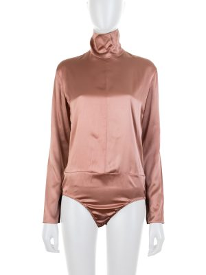 Long Sleeved Nude Silk Body by Nina Ricci - Le Dressing Monaco