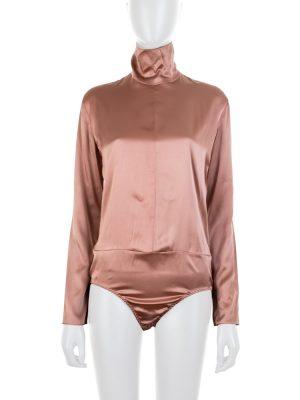 Long Sleeved Nude Silk Body by Nina Ricci - Le Dressing Monaco