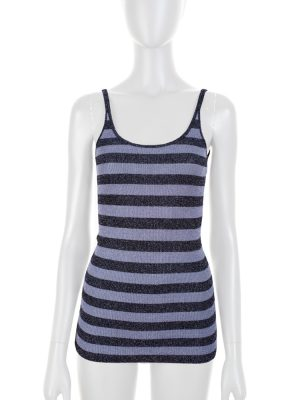 Purple Lurex Striped Strappy Top by Dolce e Gabbana - Le Dressing Monaco