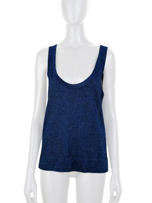Blue Lurex Sleeveless Top by Missoni - Le Dressing Monaco