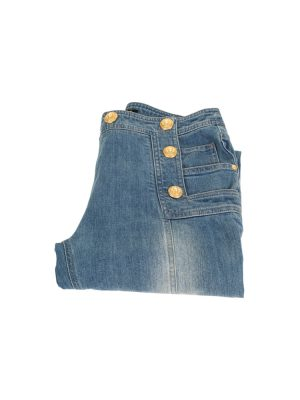 Sailor Style Jeans With Gold Buttons by Balmain - Le Dressing Monaco