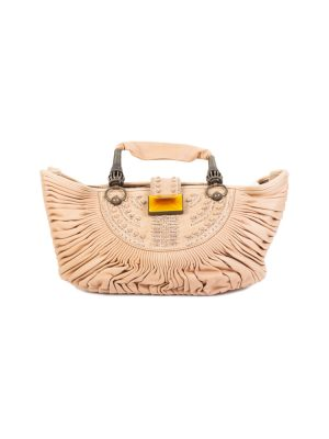 Beige Pleated Leather Handbag by Christian Dior - Le Dressing Monaco