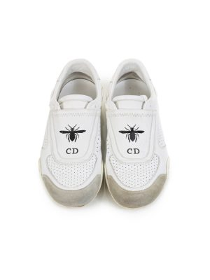 Slip On D Bee Perforated Leather Sneakers by Christian Dior - Le Dressing Monaco