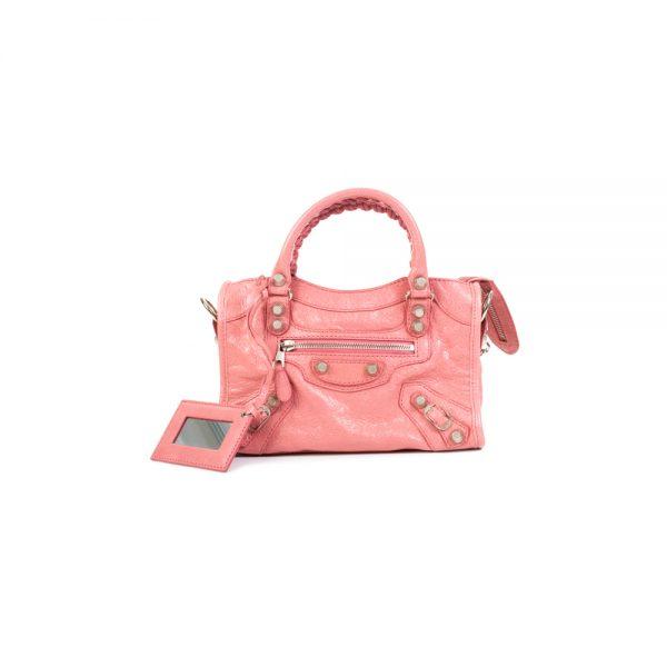 Pink Mini City Crossbody Handbag by Balenciaga - Le Dressing Monac