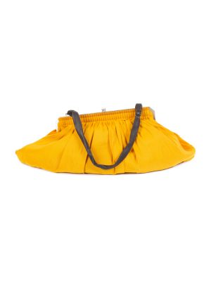 Extra Large Saffron Fabric Handbag by Lanvin - Le Dressing Monaco