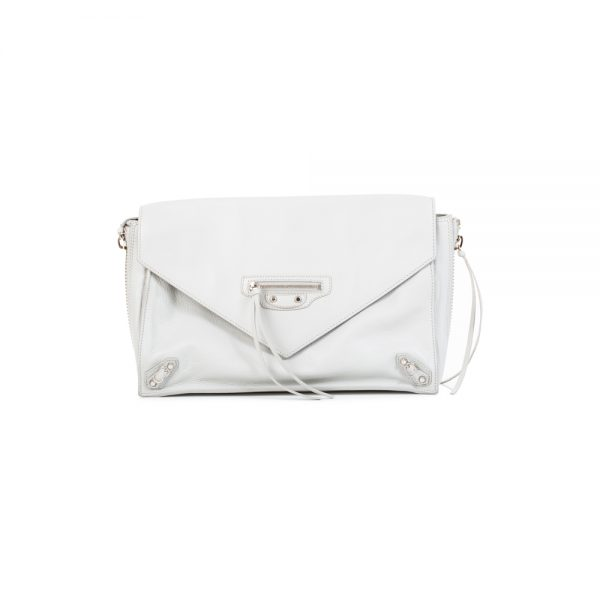 Light Grey City Pochette by Balenciaga - Le Dressing Monaco