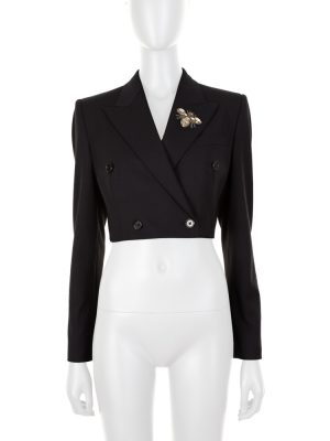 Cropped Blazer Embroidered Insect by Dolce e Gabbana - Le Dressing Monaco