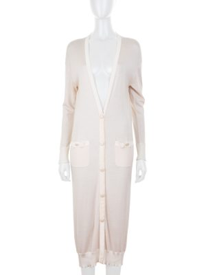 Long Nude Thin Cardigan by Chanel - Le Dressing Monaco