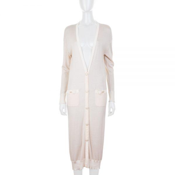 Long Nude Thin Cardigan by Chanel - Le Dressing Monaco