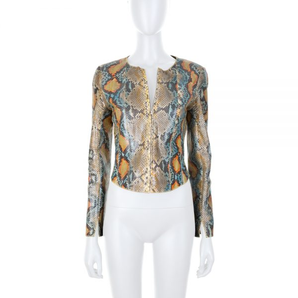 Colored Python Short Jacket by Chanel - Le Dressing Monaco
