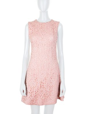 Light Pink Cocktail Lace Dress by Ermanno Scervino - Le Dressing Monaco
