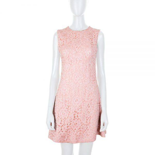 Light Pink Cocktail Lace Dress by Ermanno Scervino - Le Dressing Monaco