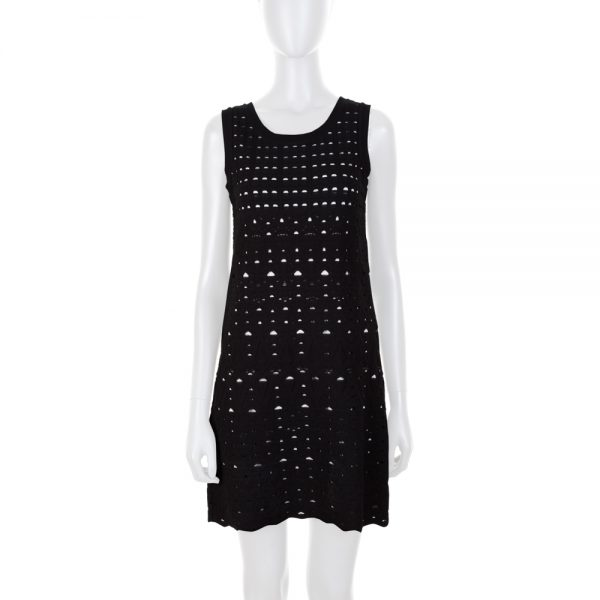 Straight Black and White Sleeveless Dress by Chanel - Le Dressing Monaco