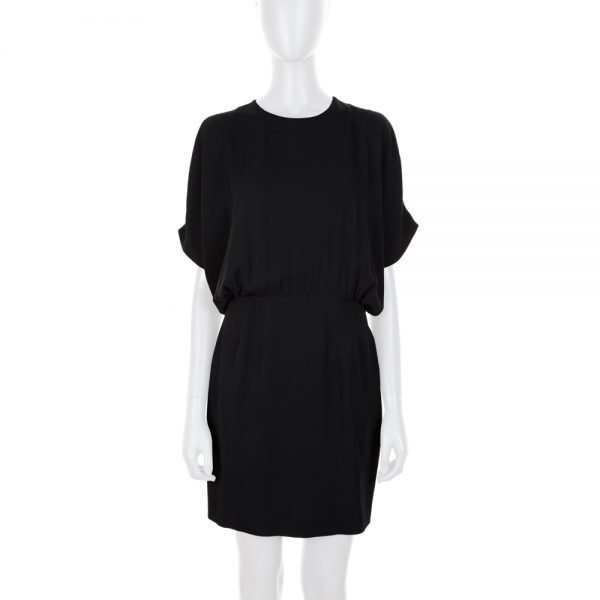Mini Black Dress Openings on Shoulders by Saint Laurent - Le Dressing Monaco